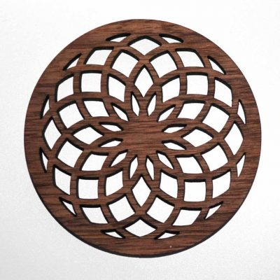 flower of life coaster, sacred geometry coaster