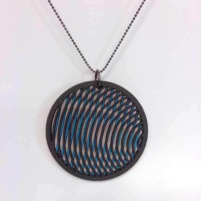 laser designs cut mermaid anthracite geometrics pendant waves denvers