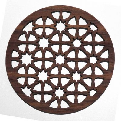 sacred geometry pattern coaster