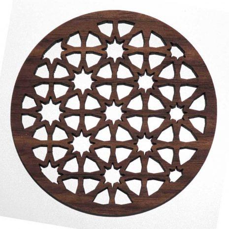 sacred geometry pattern coaster
