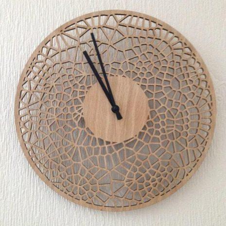 29cm cell clock in oak