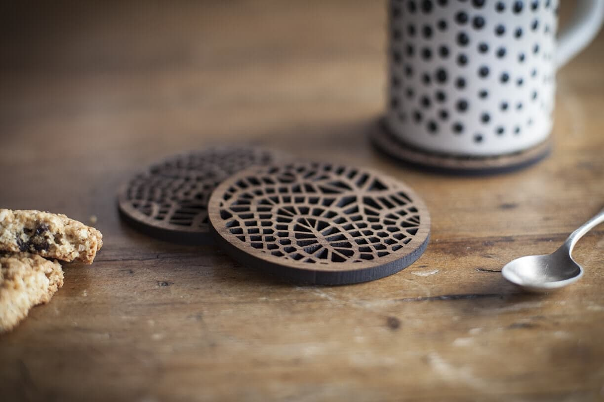 denvers designs  contemporary craft  designer clocks  wood  - denvers designer coasters