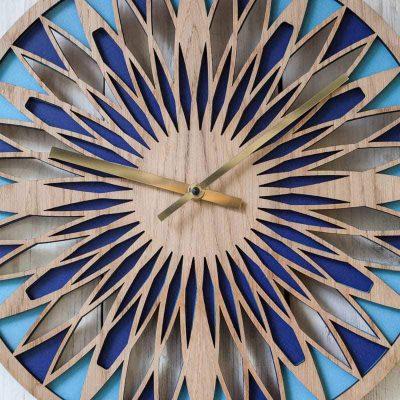 Layered blue retro clock