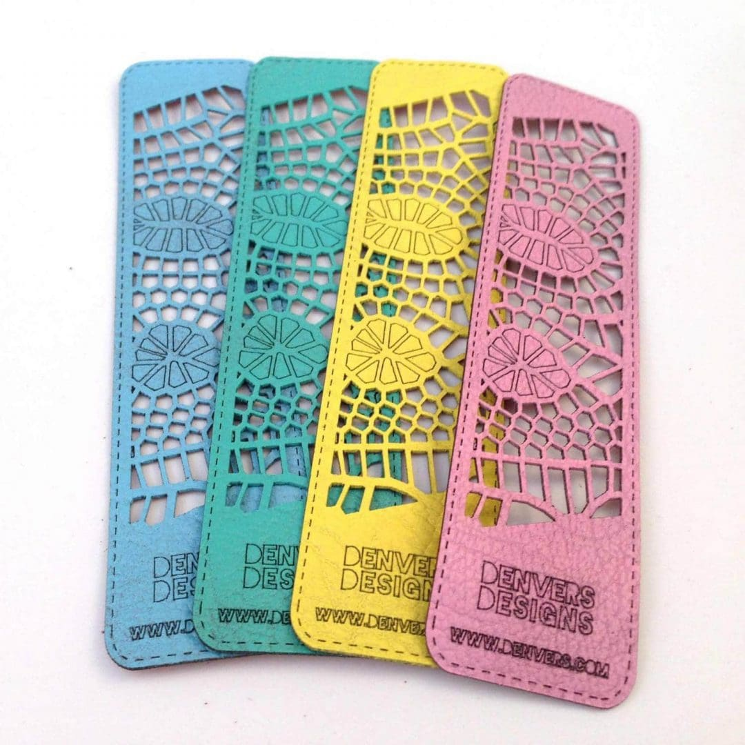 Laser cut leather bookmarks