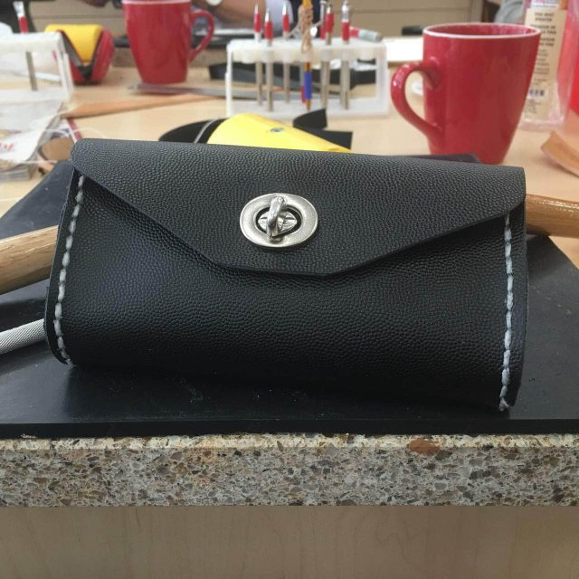 leather clutch bag making