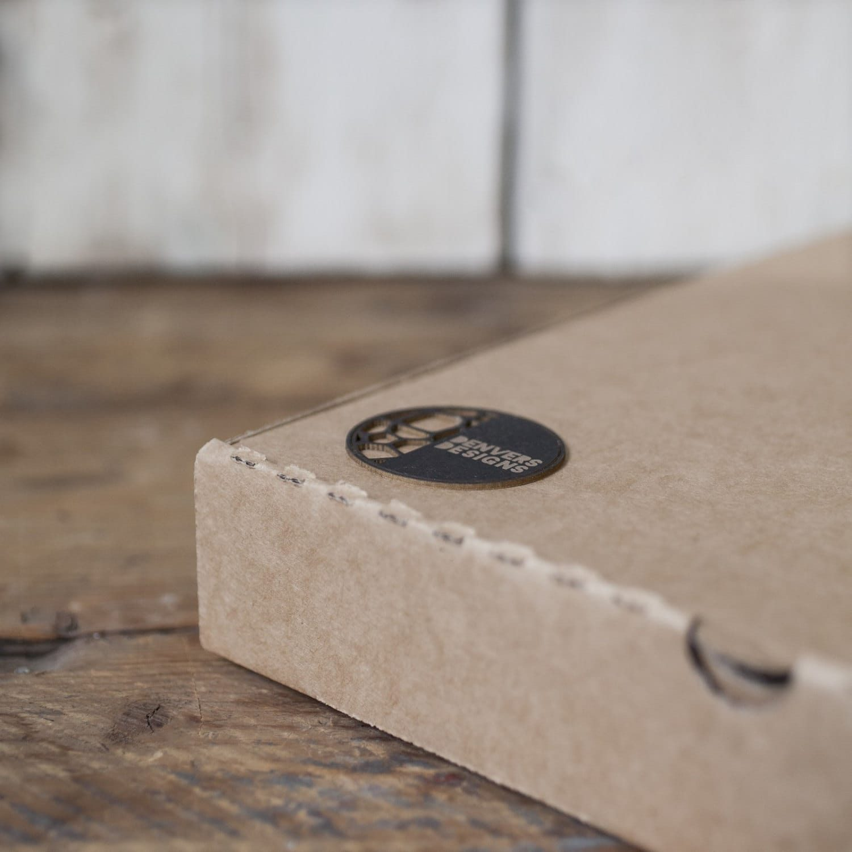 Contemporary small CELL CLOCK (20cm) - real wood veneer - oak or walnut