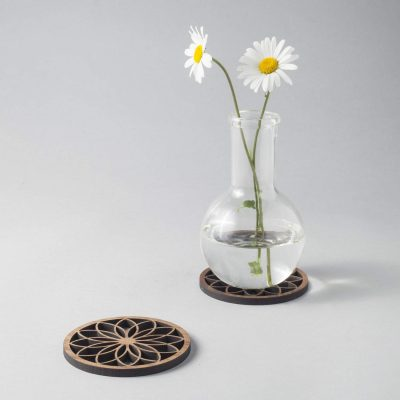 flower petal coaster