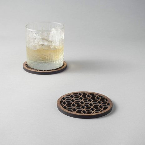Hedron Walnut Coaster 2