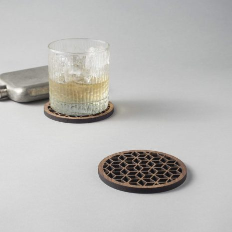 Hedron Walnut Coaster