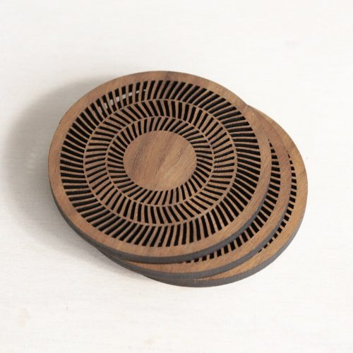 Op Art Rings Coaster
