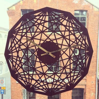 Contemporary clock - Mandala clock - Geometric design