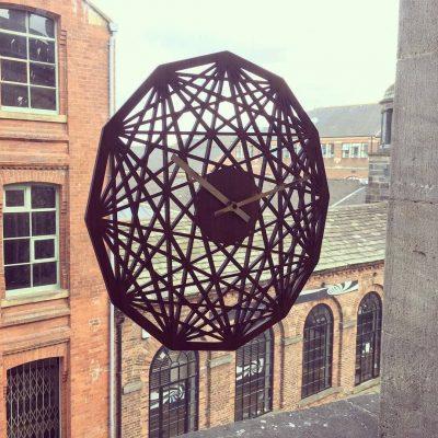 Contemporary clock - Mandala clock - Geometric design