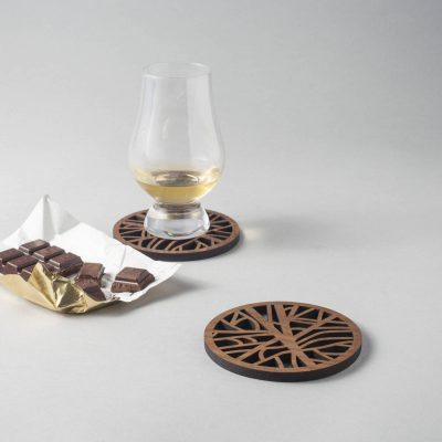Tree Pattern Coasters Wood Coasters Nature Pattern Walnut Coasters