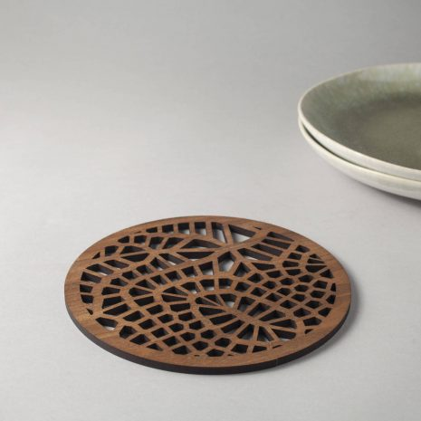 Tribal Pattern Coasters Wood Coasters Cell Patterns Generative Design